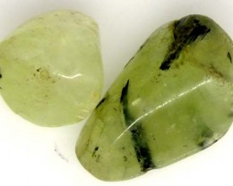 PREHNITE BEAD DRILLED 2 PCS 38.5 CTS  NP-1391