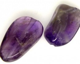 AMETHYST BEAD NATURAL 2 PCS 16 CTS  NP-1368