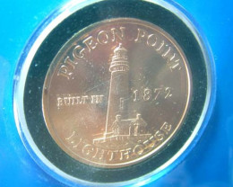 COLLECTOR COIN -BY NEVADA CITY MINT -LIGHT STATION