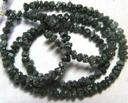 BLACK DIAMONDS GENUINE NATURAL STRAND 46 CTS TBG-61