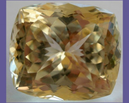 """EXQUISITE 41.14CT 'SUPERFINE' CUSHION CUT NATURAL YELLOW SPODUMENE (T"