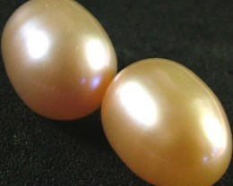 PEARL -HIGH LUSTER  CHAMPAGENE PAIR 17.5 CTS [S4340 ]