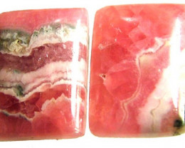 ''RHODOCHROSITE  QUALITY  STONE - PAIR  26.00 CTS [ST580]