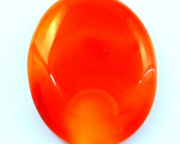 Genuine 42.00 Cts Orange Onyx Cab