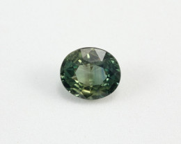 **UNHEATED** 2.10ct Lab Certified Natrual Blue-Green Sapphire