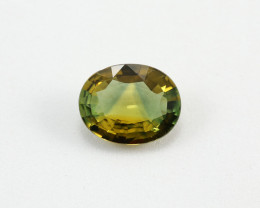 2.26ct Lab Certified Natrual Bi-Color Yellow-Blue Sapphire