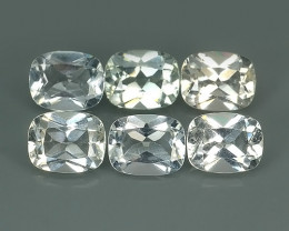 20.40 CTS TOP DAZZLING NATURAL ULTRA  WHITE TOPAZ 6 PCS