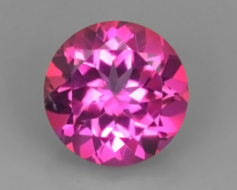 3.30 CTS SUPERIOR! TOP ROUND 9.10 MM PINK-TOPAZ GENUINE NR!!