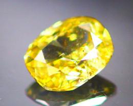 Diamond 0.22Ct Natural Yellow Color Fancy Diamond 02CF05