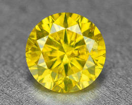 0.17 Cts Sparkling Fancy Vivid Yellow Color Natural Diamond