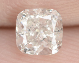 """0.42 Cts Untreated White """"G"""" Color Natural Loose Diamond- VVS2"""