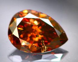 Diamond 0.39Ct Natural Cognac Color Fancy Diamond 02CF45