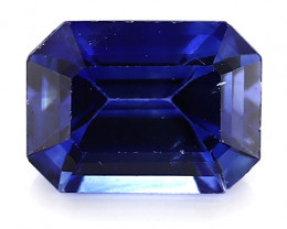 0.97 Carat Emerald Cut Blue Sapphire: Rich Blue