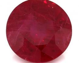 0.98 Carat Round Ruby: Rich Red