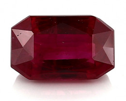 1.02 Carat Emerald Cut Ruby: Fiery Red