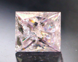Diamond 0.15Ct Natural Princess Cut Fancy Pink Color Diamond 03CF16