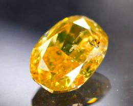 Diamond 0.48Ct Natural Orange  Color Fancy Diamond 03CF17
