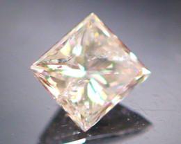 Diamond 0.18Ct Natural Princess Cut Fancy Color Diamond 03CF41