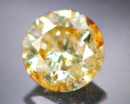 Diamond 0.22Ct Natural Brilliant Round Cut Fancy Color Diamond 03CF42