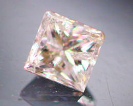 Diamond 0.14Ct Natural Princess Cut Fancy Pink Color Diamond 03CF48