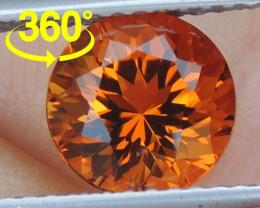 "1.58cts  Precision Cut ""Crayola Orange"" Citrine"