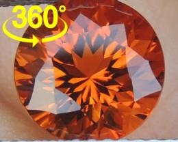 "2.28cts  Precision Cut ""Crayola Orange"" Citrine"