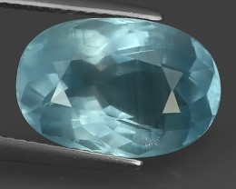 7.00 CTS ATTRACTIVE NATURAL TOP GRADE LUSTER HOT BLUE AQUAMARINE!!