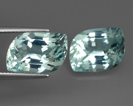 12.60 CTS ATTRACTIVE NATURAL TOP GRADE LUSTER  BLUE AQUAMARINE!!