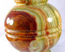 7210 CT Natural Onyx Carved Pot Special Shape