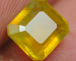 3.10CRT CRT TRANSLUCENT  YELLOW SAPPHIRE FACETED-