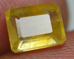 2.05 CRT TRANSLUCENT  YELLOW SAPPHIRE FACETED-