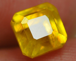 2.25 CRT TRANSLUCENT  YELLOW SAPPHIRE FACETED-