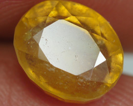 4.10 CRT TRANSLUCENT  YELLOW SAPPHIRE FACETED-
