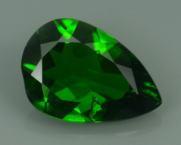 1.55 Cts MARVELOUS RARE PEAR NATURAL TOP GREEN- CHROME DIOPSIDE DAZZL