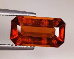 4.10 ct Top Quality Gem Rectangle Cut Top Luster Hessonite Garnet