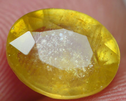 3.45 crt CRT TRANSLUCENT  YELLOW SAPPHIRE FACETED-