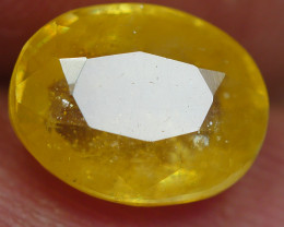 2.50 CRT TRANSLUCENT  YELLOW SAPPHIRE FACETED-
