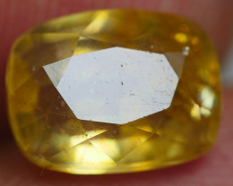 2.45 CRT TRANSLUCENT  YELLOW SAPPHIRE FACETED-