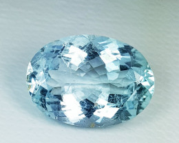 5.06 ct AAA Grade Gem Excellent Oval Cut Natural Aquamarine