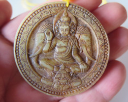"""FROM A COLLECTION JADE """"BUDDHA/ELEPHANT"""" PENDANT/AMULET"""