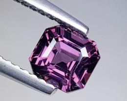 1.20 ct Top Quality Gem  Octagon Cut Natural Purplish Pink Spinel