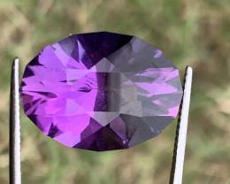 14.40 Carats fancy cut amethyst gemstone