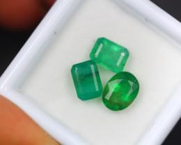 3.01Ct Natural Zambia Green Emerald Lot V5180