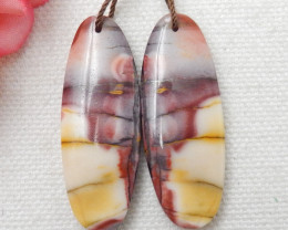50ct Fashion Natural Oval Shape Mookite Jasper Earring Pair E375