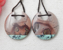 New Arrival Intarsia Earring Beads ,Chohua jasper,Green Turquoise Intarsia