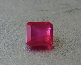 1.01ct clean vivid red ruby from Myanmar