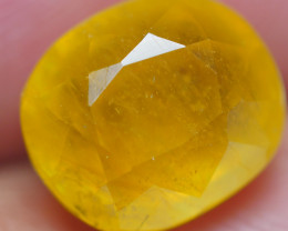 4.35crt DEEP YELLOW SAPPHIRE BRILLIANT CUT FACETED-