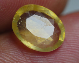 2.20 CRT TRANSLUCENT  YELLOW SAPPHIRE FACETED
