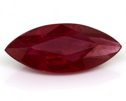 1.54 Carat Marquise Ruby: Pigeon Blood Red