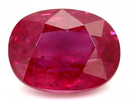 1.60 Carat Oval Ruby: Pinkish Red